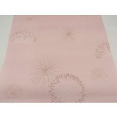 Papel de Parede - Rosa com Detalhes em Areia e Branco - Rolo com 10m x 53cm - LMS-PPY-904