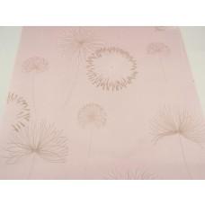 Papel de Parede - Rosa Claro com Detalhes em Areia e Branco - Rolo com 10m x 53cm - LMS-PPY-903