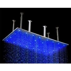 Ducha de Metal em aço escovado com LED - 79cm x 40cm - LMS-010-1