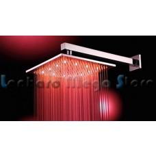 Ducha de Metal com LED - 30cm x 30cm - Cromada - LMS-003-1