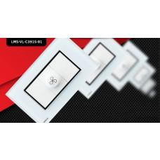 Espelho Livolo com 1 Controle de Velocidade Branco - LMS-VL-C391S-81
