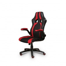Cadeira Racing / Gamer Giratória Preta e Vermelha - LMS-BY-8-106