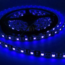 Fita LED Azul SMD 5050 / Fundo Preto - IP65 - Rolo com 5 metros com 60 Leds por metro - 2418