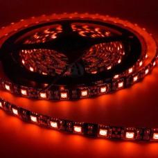 Fita LED Vermelha SMD 5050 / Fundo Preto - IP65 - Rolo com 5 metros com 60 Leds por metro - LMS-FT2906R