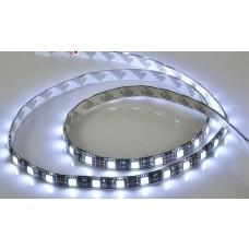 Fita LED Branco Frio SMD 5050 / Fundo Preto - IP65 - Rolo com 5 metros com 60 Leds por metro - 1006