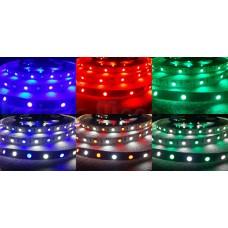 Fita LED RGBW / Colorida SMD5050 - 300 leds - IP65 - Resistente a Àgua - Rolo com 5 metros