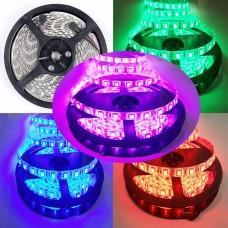 Fita LED Colorida (RGB) SMD 5050 - IP20 - Rolo com 5 metros com 60 Leds por metro - LMS-FRGB990