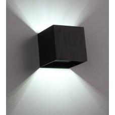 Luminária Arandela Super Led 3w Alumínio - Preta - Branco Frio - LMS-AR03PBF