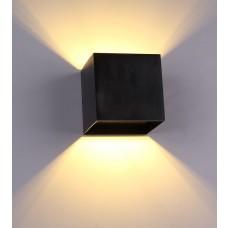Luminária Arandela Super Led 3w Alumínio - Preta - Branco Quente - LMS-AR03PBQ