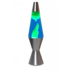 Luminária / Abajur - Lava Lamp / Lava Motion - Verde com Líquido Azul - 36 cm - 220V - Atenas - LMS-6112-SLGB