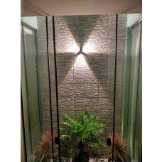 Arandela de parede, resistente a água, branco quente, efeito lindo, Lenharomegastore