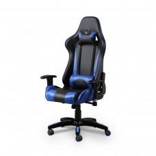 Cadeira Gamer Giratória com Regulagem de Encosto e Braços - Preta e Azul - Panther - LMS-BY-8-141