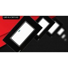 Espelho Livolo com Interruptor de 1 Botão Branco c/ Acabamento Preto - LMS-VL-C3K1S-82
