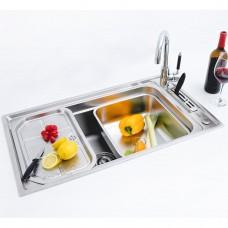Kit Cuba Gourmet em Inox para Cozinha - Linha Diamond - LMS-FSH-676