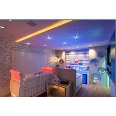 Ultra Kit Iluminação Céu Estrelado com Fibra Óptica para decoração com 300 pontos de 3 metros cada