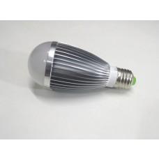 Lâmpada Led com Corpo de Metal e Bulbo - 7 watts (7w) - Branco Frio - 24 volts (24v)