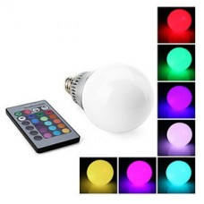 Lâmpada Led RGB E27 RGB com Bulbo - 10 watts com Controle Remoto - Bivolt - 10w