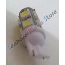 Par de Lâmpadas Pingo T10 9 LEDs Branca - Meia luz