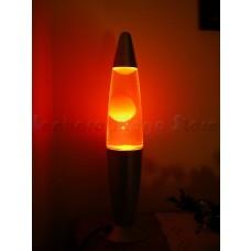 Luminária / Abajur - Lava Lamp / Lava Motion - Laranja com Líquido Transparente - 41 cm - 220 V