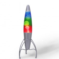 Luminária / Abajur - Lava Lamp / Lava Motion - Três Cores - 46 cm - 220V - Rocket - LMS-LT1065