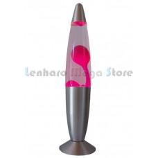 Luminária / Abajur - Lava Lamp / Lava Motion - Rosa / Pink - 34 cm - 220 V