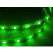 Fita Led - 30 Cm - 18 Leds para farol de carro SMD 5050- A Prova D´água - Verde - Fundo Preto