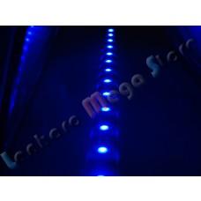 Fita Led - 30 Cm - 18 Leds para farol de carro - A Prova D´água - Azul - Frete Grátis