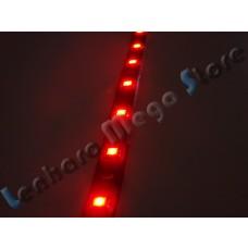 Fita Led - 30 Cm - 18 Leds para farol de carro (3528) - A Prova D´água - Vermelha