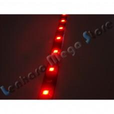 Fita LED Vermelha SMD 3528 com fundo Preto - 60 Leds por metro - IP65 (A prova d'água) - 5 metros