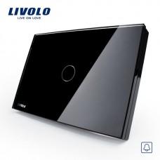 Campainha Touch com 1 botão Pulsador - Preto - Livolo - LMS-VL-C301B-82