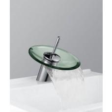 Torneira para Banheiro com Cascata de Vidro VERDE, Monocomando com Misturador - LMS-1202V