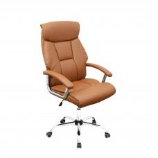 Cadeira Presidente Giratória Almofadada para Escritório Marrom - LMS-BE-4328 (3477)