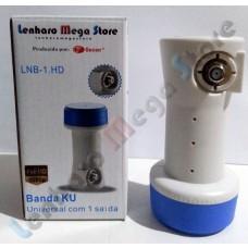 Lnbf Monoponto Banda Ku - Universal - Uma Saída com suporte a Canais Full HD - LenharoMegaStore