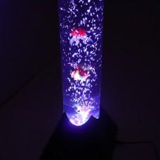 Luminária Aquário LED com bolhas e peixes de plástico - 118 cm - 110V - LMS-LM901-110