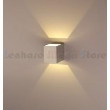 Luminária Arandela Super Led 6w Alumínio - Prata - Branco Quente