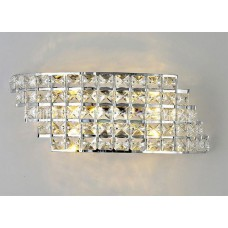 Luminária Arandela em Metal Cromado com Cristais K9 - LMS-WL-XD0020