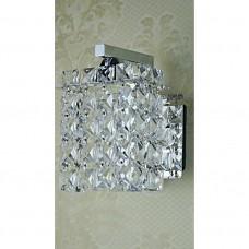Luminária Arandela em Metal Cromado com Cristais K9 - LMS-WL-XD0065
