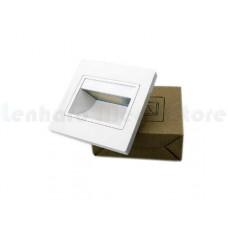 Luminária Balizador / Arandela Para Escadas LED - Branco Quente - Acabamento BRANCO - LMS-BLZBQ-BR