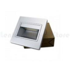 Luminária Balizador / Arandela Para Escadas LED - Branco Frio - Acabamento CINZA  - LMS-BLZBF-CZ