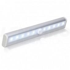 Luminária LED s/ Fio Sensor de Luminosidade e Presença p/ Cozinhas, Armários, Gavetas - 19 cm - Branco Quente - LMS-LS3201