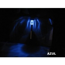 Kit com duas (2) luminárias Solar para Jardins com Led - Azul