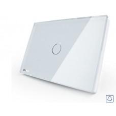 Campainha Touch com 1 botão Pulsador - Branco - Livolo - LMS-VL-C301B-81