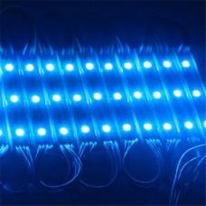 Módulo com 3 leds 5050 - Azul - 60 lúmens - IP65 - 12 volts (unitário) - LMS-MDL3L-5050-AZL