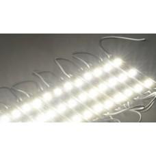 Módulo com 3 leds 5050 - Branco Frio - 60 lúmens - IP65 - 12 volts (unitário) - LMS-MDL3L-5050-BF
