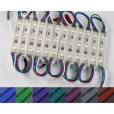 Módulo com 3 leds 5050 - RGB - 60 lúmens - IP65 - 12 volts (unitário) - LMS-MDL3L-RGB