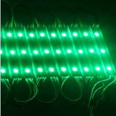 Módulo com 3 leds 5050 - Verde - 60 lúmens - IP65 - 12 volts (unitário) - LMS-MDL3L-5050-VRD