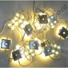 Módulo com 4 leds 5050 - Branco Quente - 80 lúmens - IP65 - 12 volts (unitário)