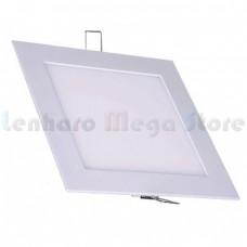 Painel Led de Embutir / Luminária Plafon / Downlight Ultra fino - 12W - Branco Quente - QUADRADO