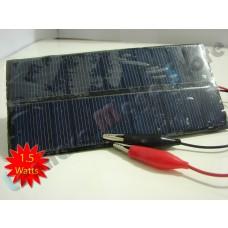 Painel / Placa / Célula Solar 1.5 watts - 5.5 volts - LMS-PS1.5W