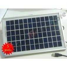 Painel / Placa / Célula Solar  5 watts - 18 volts - 5W - Monocristalina